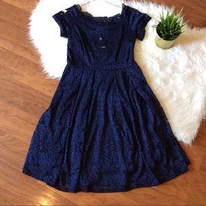 Dresses & Skirts - Missmay Vintage Reproduction Navy Lace Dress